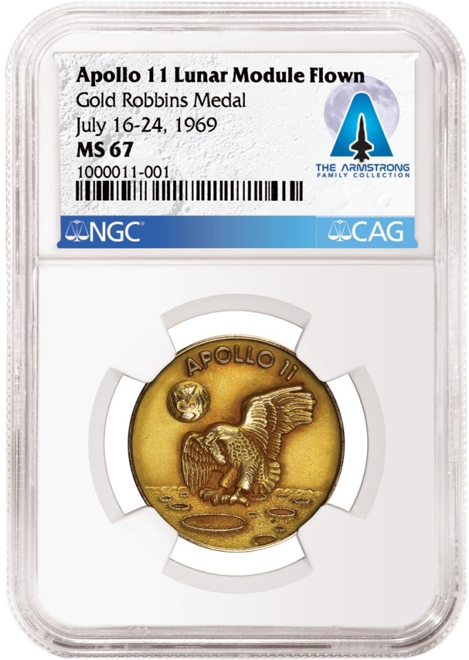 Apollo 11 Gold Medal from Neil Armstrong