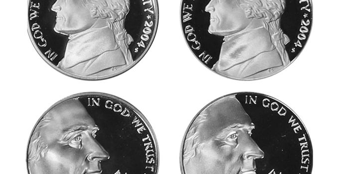 2004-2005 Jefferson Nickel Westward Journey 4-Coin Proof Set