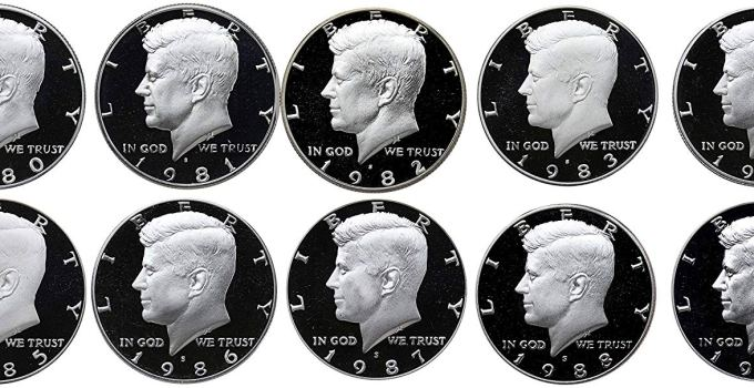 1980-1989 Kennedy Half Proof Set