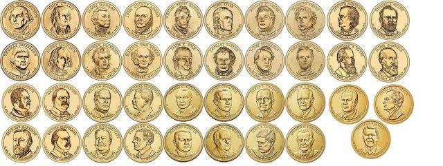 2007-2016 Presidential Dollar Set