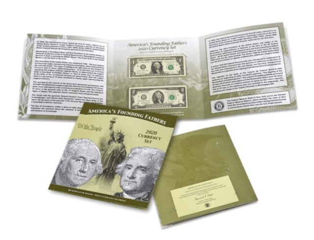 Founding Fathers 2020 Currency Set