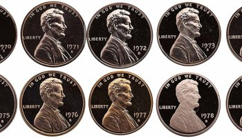 1970s Lincoln Cent Complete Proof Set