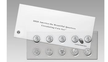 2020 America the Beautiful Quarters Circulating Coin Set