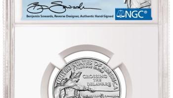 2021-P Washington Crossing the Delaware Quater Sowards Signature Label (Image Courtesy of NGC)