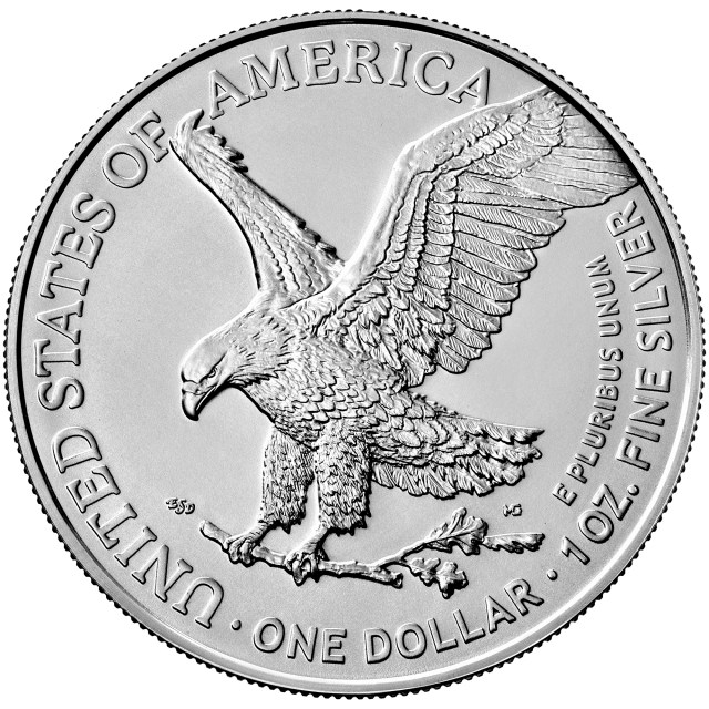 2021 American Eagle Type-2 Silver Reverse (Image Courtesy of The United States Mint)
