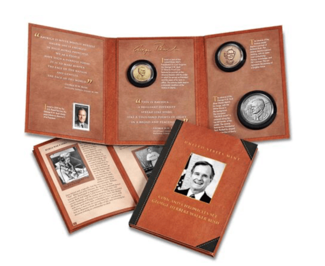 Coin and Chronicles Set - George Herbert Walker Bush (Image Courtesy of The United States Mint)
