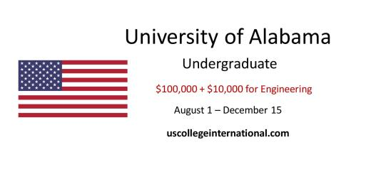 University Alabama Scholarships