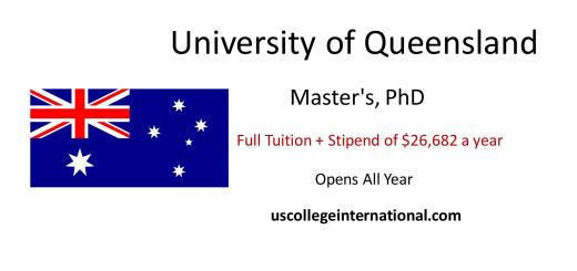 university of queensland scholarships