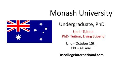 monash university scholarships