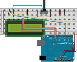 Схема подключения дисплея к Arduino