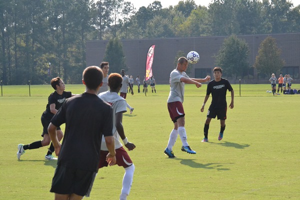 Never Hurts to Use Your Head.  Men tie 1-1 with Middle Georgia College