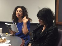 Poets Sholeh Wolpe and Suzanne Lummis, , photo by K Moe