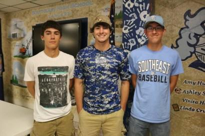 2016 05 23 Baseball team awards - Bennett, Burdette, Burns (Medium)
