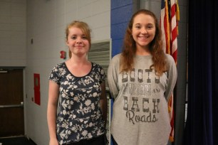 """At the CNC Music Festival held on March 29, Junior Robyn Nabors received a """"I"""" for Vocal, and sophomore Jessica Humble received a """"I"""" for Alto Sax."""
