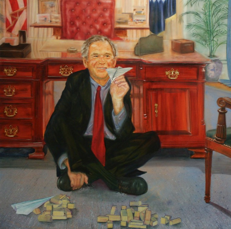 George W. Bush War Games Petrina Ryan-Kleid Painting