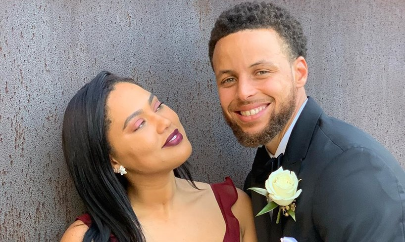 Stephen Curry Posts Alluring Picture Of His Wife Ayesha Curry Straddling Him And Licking His Forehead Some Say Baby Number 4 Might Come After This