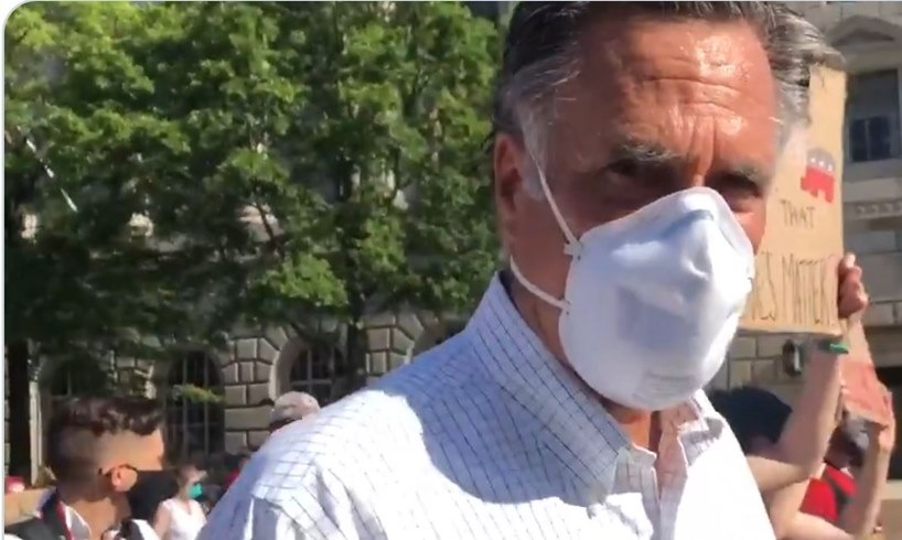 Mitt Romney Black Lives Matter George Floyd March White House