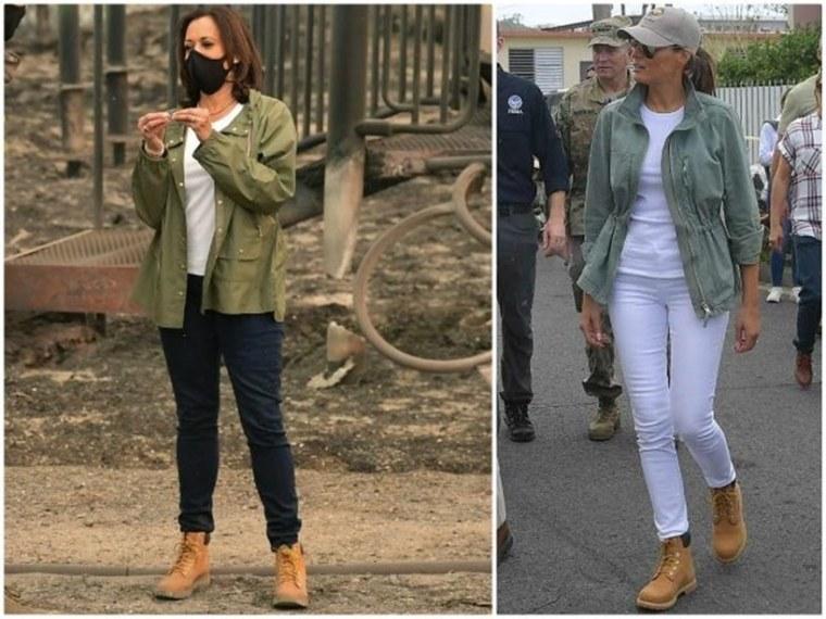 Kamala Harris Melania Trump Timberland Boots