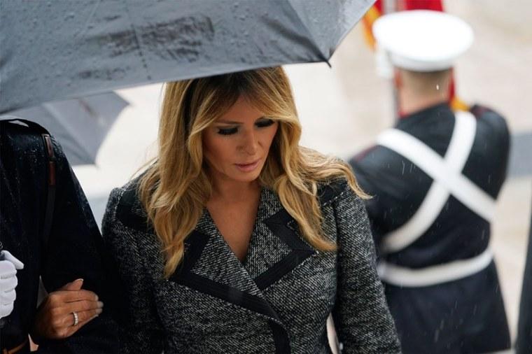 Melania Trump President Donald Virginia's Arlington National Cemetery Veterans Day