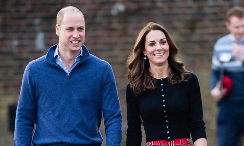 Prince William Kate Middleton Harry Meghan Markle Archie Christening