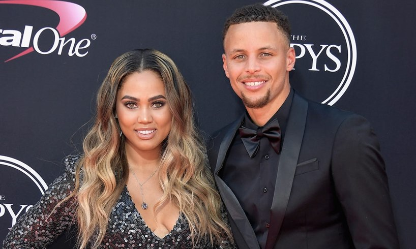 Ayesha Steph Curry Video Kissing Baby Number Four