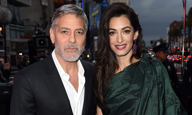 George Clooney Wife Amal And Their Children
