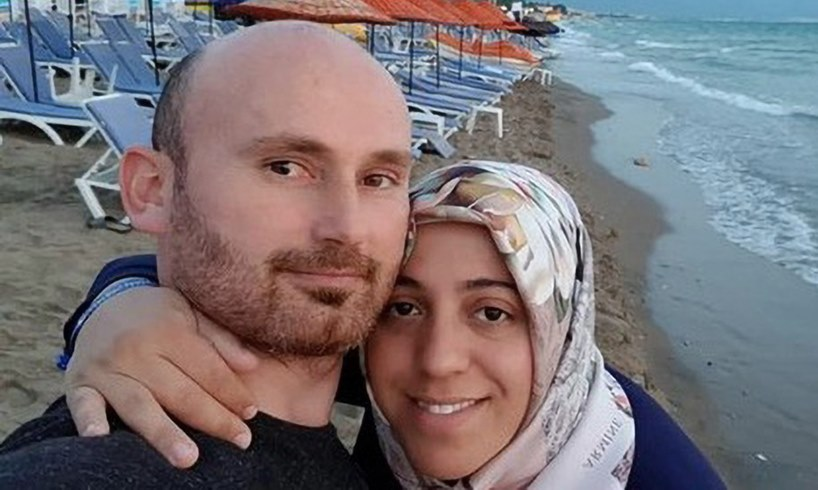 Hakan Aysal Semra Wife Selfie Cliff Turkey