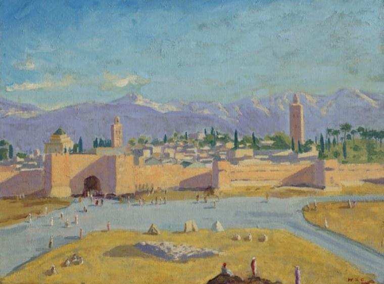 Winston Churchill Painting Tower Of The Koutoubia Mosque Angelina Jolie Brad Pitt