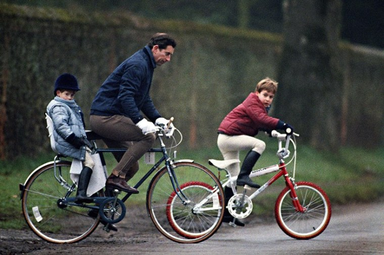 Prince Harry Charles William Bicycle Photo