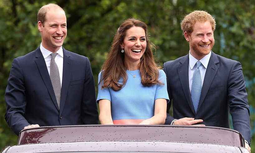 Prince William Kate Middleton Harry Meghan Markle Celebrity Friends Competition