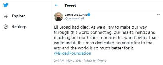 Billionaire Eli Broad died of a longtime illness