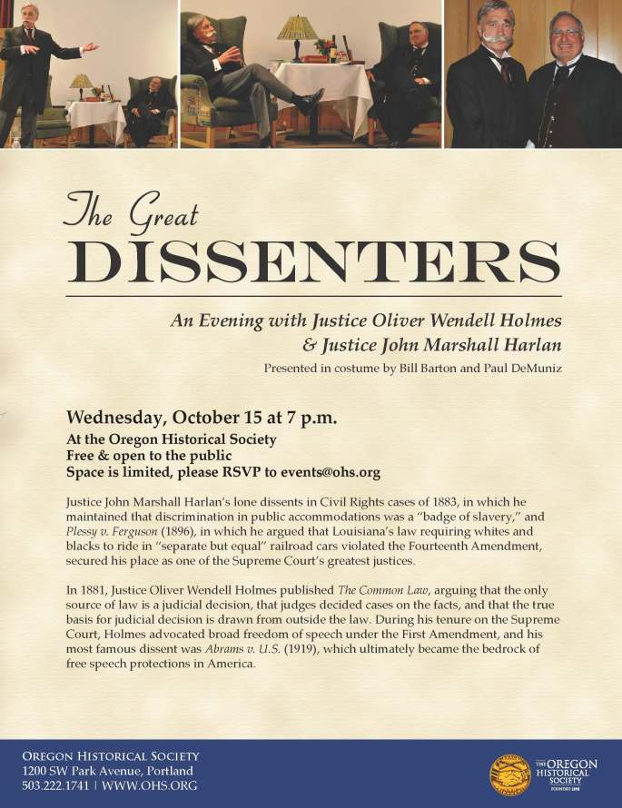 The Great Dissenters Flyer
