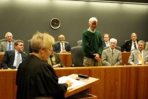 Judge Russo acknowledges her predecessor Judge Thomas Coffin.
