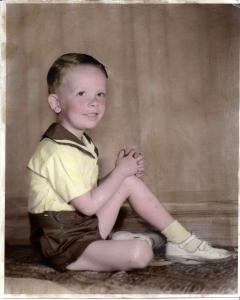 Five year-old Ron Lansing.