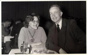 Jewel Beck and Ron Lansing on a date in 1956.
