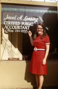 Jewel Lansing and her CPA office in Portland's Burlingame neighborhood.