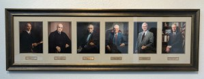 Accompanying panel to judicial portrait for Judge Anna Brown.