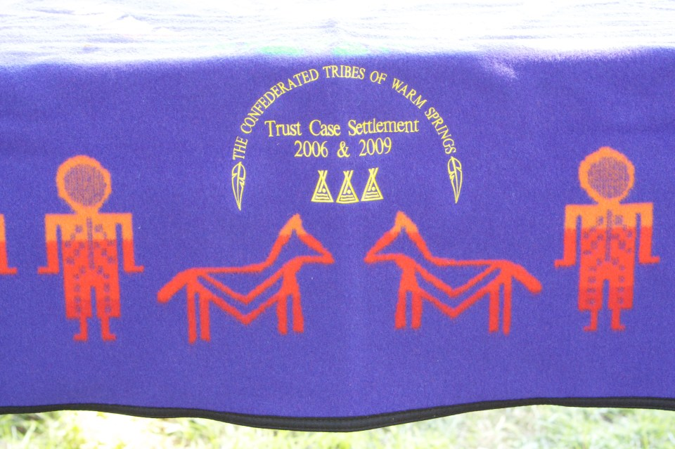 Blanket Commemorating the Trust Case Settlements