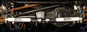 7350  Zone Offroad  0517 Ford F250F350 Dual Steering Stabilizer Kit  Black
