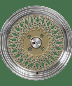 F1R wheels F01 Gold Polished Lip