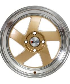 F1R wheels F08 Gold Polished Lip