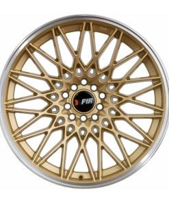 F1R wheels F23 Gold Polished Lip
