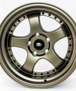 MST wheels MT07 Matte Bronze Black Rivets