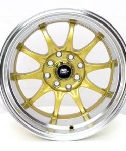 MST wheels MT11 Gold Machined Lip