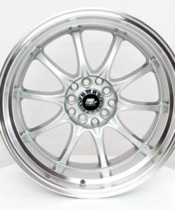 MST wheels MT11 Silver Machined Lip