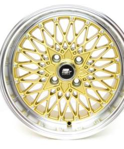 MST wheels MT16 Gold Machined Lip