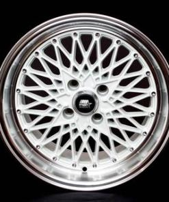 MST wheels MT16 White Machined Lip
