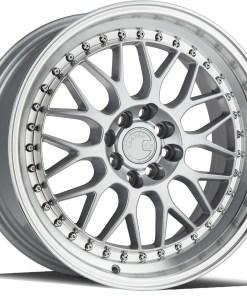 AH02 AH02 17X8 4X100/114.3 Silver Machined Lip
