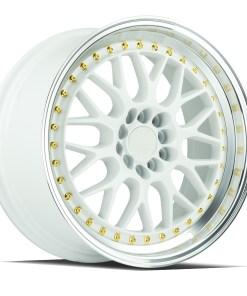 AH02 AH02 17X8 5X100/114.3 White Machined Lip