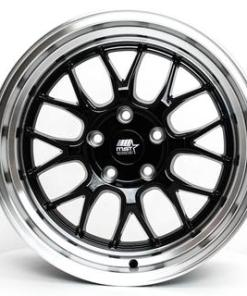 MT43 MT43 17X9 5X114.3 Black Machined Lip